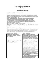 LJA Jūrskolas pašvērtējuma ziņojums 2012 - Latvijas Jūras akadēmija