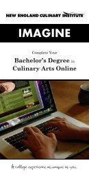 Download a Brochure for Online Bachelor's Degree in Culinary Arts
