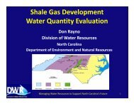 Water Supply Issues in DENR's Shale Gas Report - Division of ...