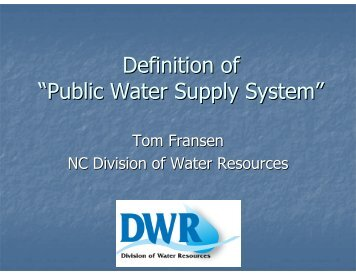 Definition Of U201cPublic Water Supply Systemu201d   Division Of Water .