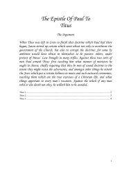 The Epistle Of Paul To Titus - geneva bible 1599