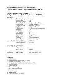 Ordentliche Sitzung vom 1. Dezember 2008 - Quartierkommission ...