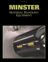 optional features - The Minster Machine Company