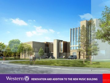 RENOVATION AND ADDITION TO THE NEW MUSIC BUILDING