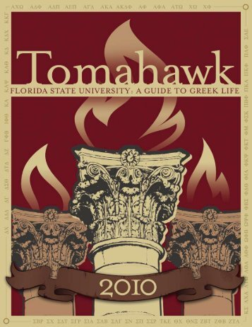 2010 Tomahawk - Greek Life - Florida State University