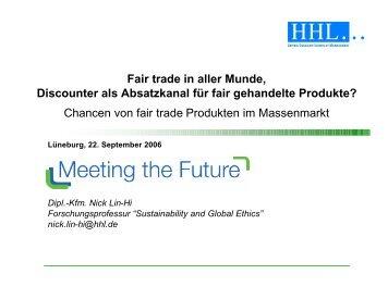 Chancen von fair trade Produkten im Massenmarkt - Doktoranden ...