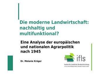 Die moderne Landwirtschaft: nachhaltig und multifunktional?