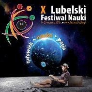 X Lubelski Festiwal Nauki - człowiek - nauka - Lublin