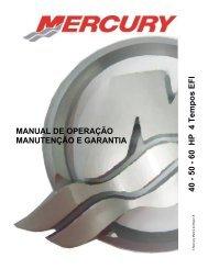 6 0 HP 4 Te m pos E FI MANUAL DE OPERAÇÃO ... - Mercury Marine