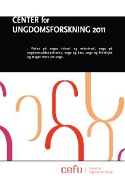 Årsberetning 2011 - Center for Ungdomsforskning