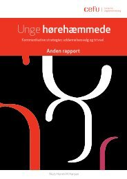 Download delrapport 2 her - Center for Ungdomsforskning