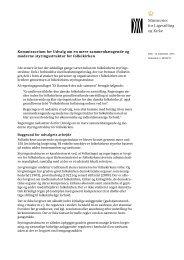 Kommissorium for Udvalg om en mere ... - Kirkeministeriet
