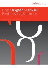 Unges tryghed og trivsel i Frederiksberg Kommune - Center for ...