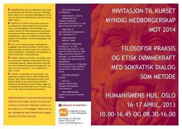 2013 04 Filosofisk praksis og myndig medborgerskap