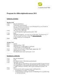 Program for tillitsvalgtkonferansen 2011
