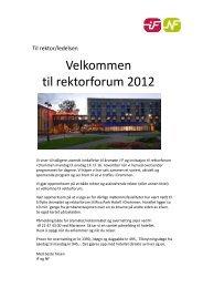 2011 11 Rektorforum invitasjon-program - folkehogskolene.net
