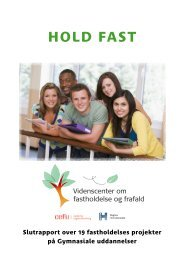 HOLD FAST - Center for Ungdomsforskning