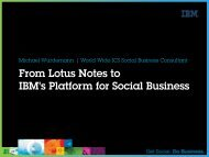 From Lotus Notes to IBM's Platform for Social Business