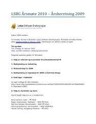 LSBG - Innkalling til årsmøte 2010