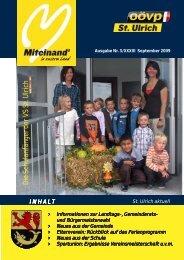 September 2009 - Gemeinde St. Ulrich im Mühlkreis