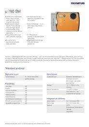 µ 790 SW, Olympus, Compact Cameras
