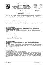 Gemeindeamt St. Ulrich im Mühlkreis K undmachung - Gemeinde St ...