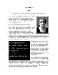 Jane Addams 1931 - The Nobel Peace Laureate Project
