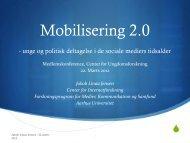Mobilisering 2.0 - Center for Ungdomsforskning