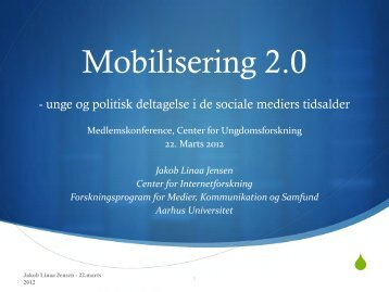 Mobilisering 2.0 - Center for Ungdomsforskning