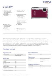 µ 725 SW, Olympus,  Compact Cameras