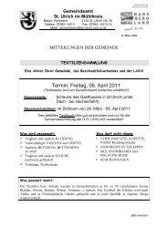 Mitteilungsblatt Nr. 03/2011 - Gemeinde St. Ulrich im Mühlkreis