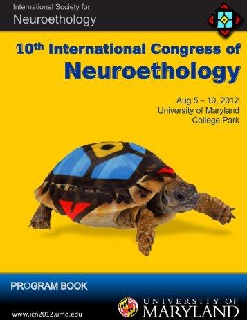 poster presentations - Tenth International Congress of Neuroethology