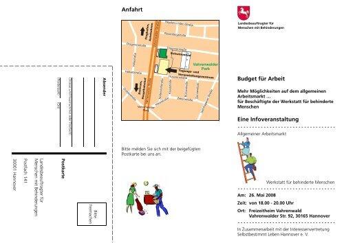 Einladung Veranstaltung in Hannover am 26.05.2008