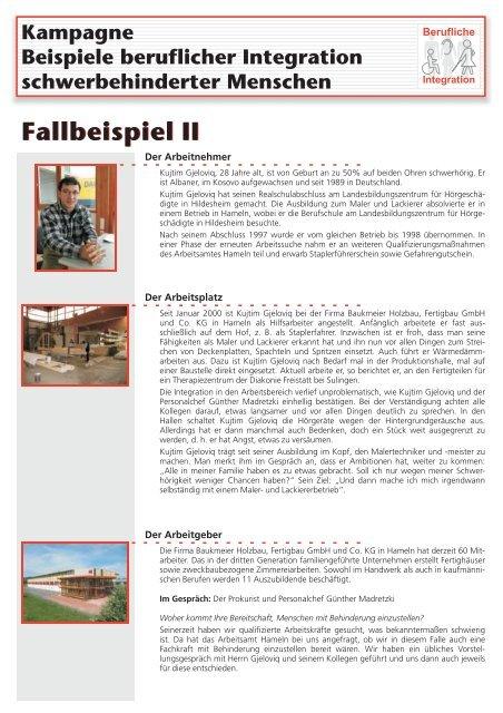 Fallbeispiel II - Behindertenbeauftragter des Landes Niedersachsen ...