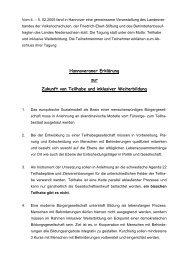 Hannoveraner Erklärung (tagged pdf) - Behindertenbeauftragter des ...