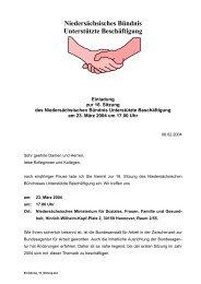 Niedersächsisches Bündnis, Unterstützte Beschäftigung - 23.03.2004