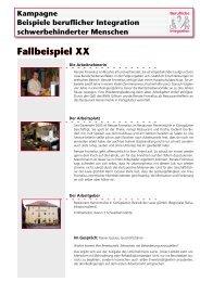 Fallbeispiel XX - Behindertenbeauftragter des Landes ...