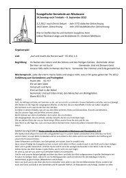 Gottesdienstablauf und Predigt als pdf - Gemeinde Nikolassee