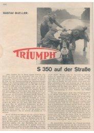 Triumph S 350 auf der Strasse - TWN Zweirad IG