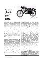 Begegnung mit der bulligen Boss - TWN Zweirad IG