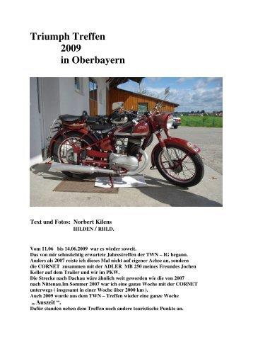 Bericht vom Treffen von Norbert Kilens - TWN Zweirad IG