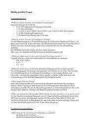 häufig gestellte Fragen mit den richtigen Antworten - Fachschaft 04