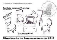 Filmabende im Sommersemester 2010 Die Klasse - Fachschaft 04