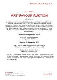 Art Savour Auktion