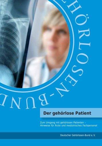 """Broschüre """"Der gehörlose Patient"""" - Brustkrebs Deutschland eV"""