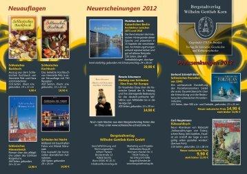 Neuerscheinungen 2012 Neuauflagen - Bergstadtverlag Wilhelm ...