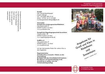 Angebote für Groß und Klein in Rödelheim und Sossenheim
