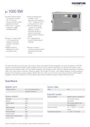 µ 1050 SW, Olympus, Compact Cameras