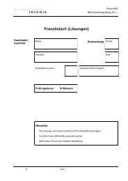 Französisch (Lösungen)