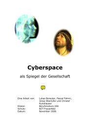 2006 - Klasse BM 2AA - Titel Cyberspace - zurück zum BZT Extranet